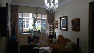 Apartamento Com 2 Dormitórios À Venda, 81 M² Por R$ 600.000 - Icaraí - Niterói/rj - Ap1233