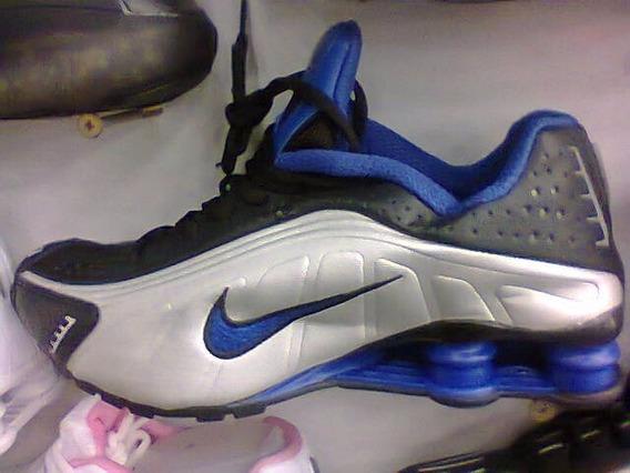 Tenis Nike Shox R4 Prata/preto E Azul Nº40 Original Na Caixa