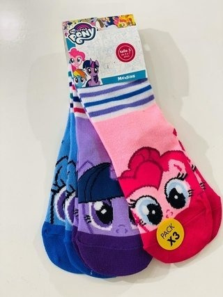Disney Pack X3 Medias Muy Little Pony Niñas