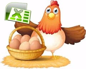 Sistema Herramienta Excel Gestión De Gallinas Ponedoras Huev
