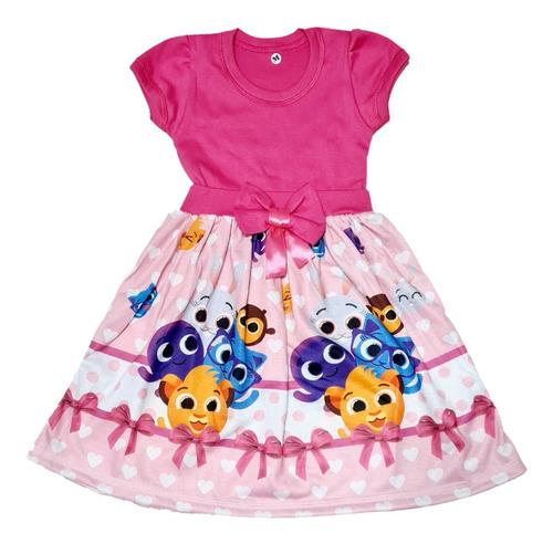 Vestido Temático Infantil Bolofofos Fab1