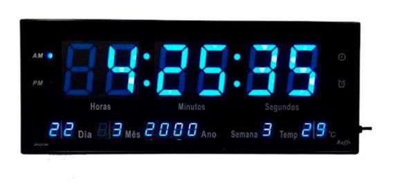 Relógio Parede Led Digital Gigante 36cm Data Temperatura