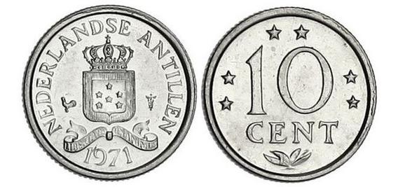 Antillas Holandesas Moneda De 10 Cent 1971