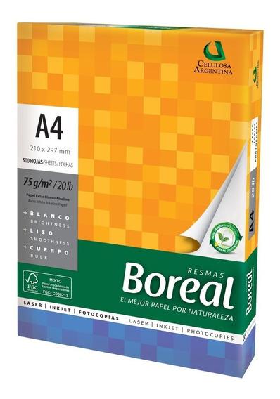 Resma Papel Boreal A4 75 G De 500 Hojas Unidad