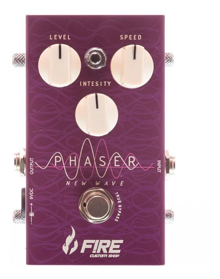 Pedal Fire Phaser Wave Restyle P/ Guitarra Mercado Full