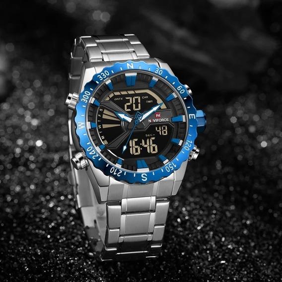 Relógio Naviforce Nf9136 Analógico E Digital Pronta Entrega
