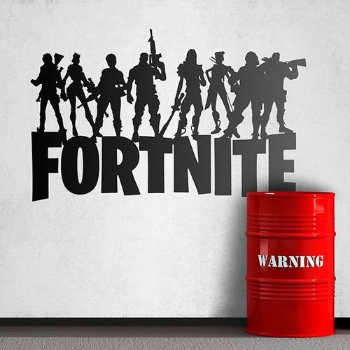 Imagen 1 de 3 de Fortnite Battle Royale Diseño De Juego Vinilo Decorativo
