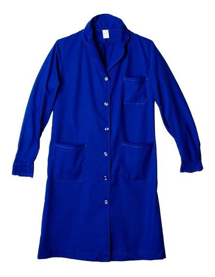 Guardapolvo Dama Rufer Azul-fran Algodón Poliéster 42al60