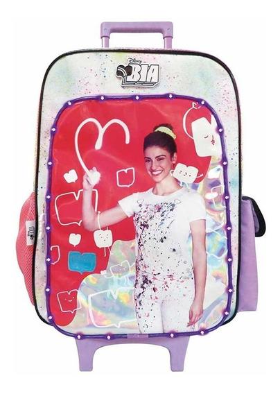 Mochila Bia Disney Original Con Carro Luz Led Bi030 Mapleweb