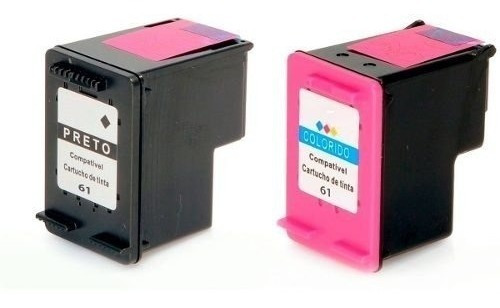 2 Cartuchos Tinta Compatível Microjet Para Uso Em 1050 J410a