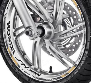 Friso + Adesivo Interno Refletivo D4 Roda Moto Honda Sh 300i
