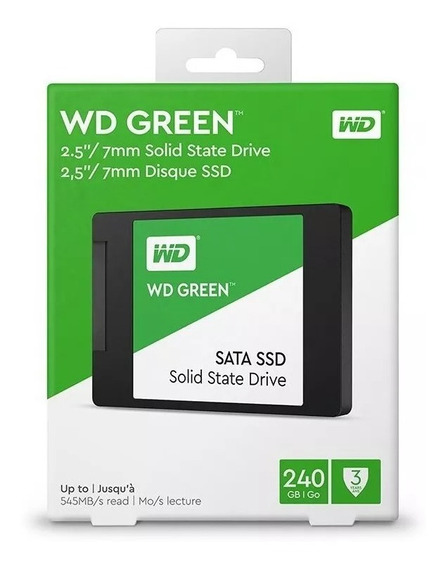 Hd Ssd Wd Green 2.5´ 240gb 7mm Pc / Notebook Retire Niterói