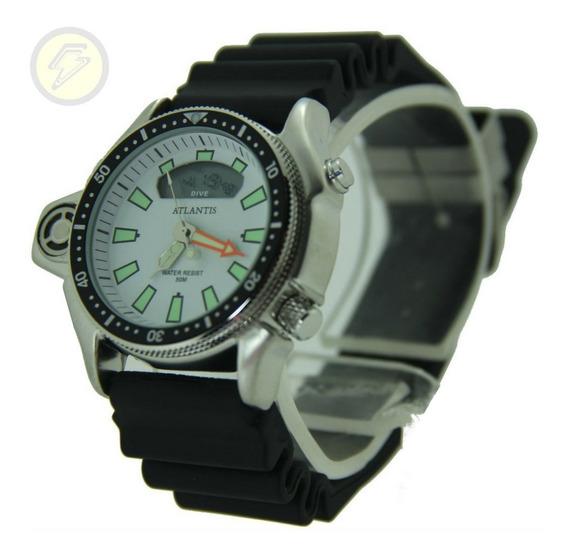 Relógio Social Masculino Barato Esportivo Original Preto