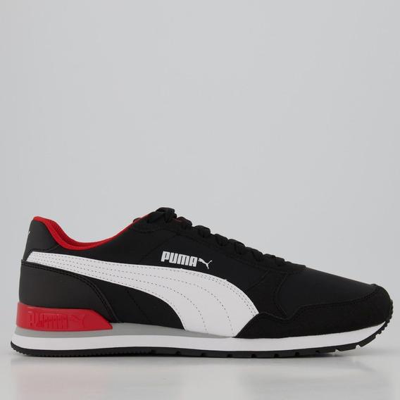 Tênis Puma St Runner V2 Nl Preto E Vermelho