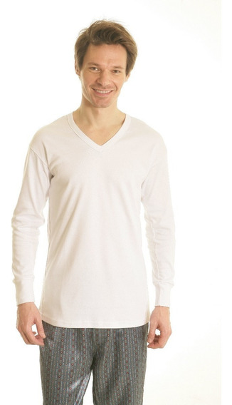 Camiseta Térmica Manga Larga Escote V