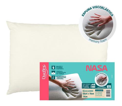 Travesseiro Nasa Viscoelástico - 14 Cm - Duoflex