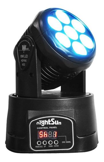 Cabeza Movil 7x10w 4 En 1 Nightsun Spb305