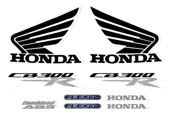 Kit Adesivo Jogo Faixas Moto Honda Cb 300r 2015 Vermelha