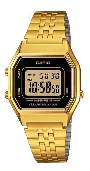 Relógio Casio Digital Feminino Folhado La680wga-1df