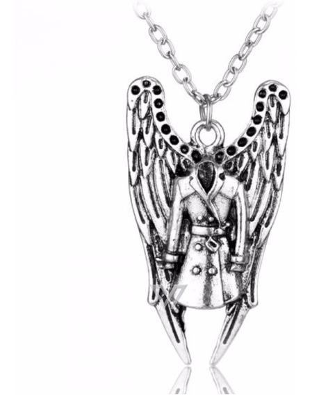 Colar Supernatural Anjo Castiel Asas Sobretudo Winchester
