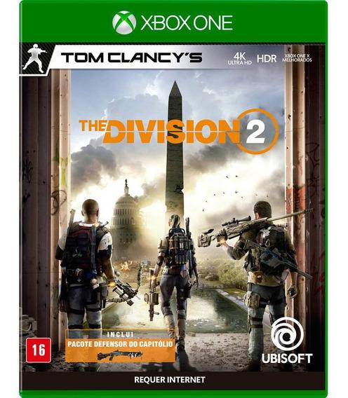 Jogo Tom Clancys The Division 2 Xbox One Midia Fisica Disco Original Game Novo Lacrado Nacional