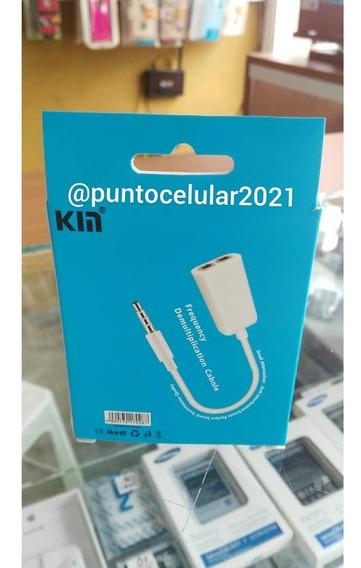 Conector Para Dos Audífonos 3.5mm