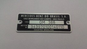 Plaqueta Mercedes Benz Frete Via Carta Registrada Gratis