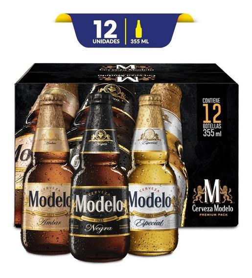 Cerveza Modelo Combo Premium Pack 12 Botellas De 355ml C/u
