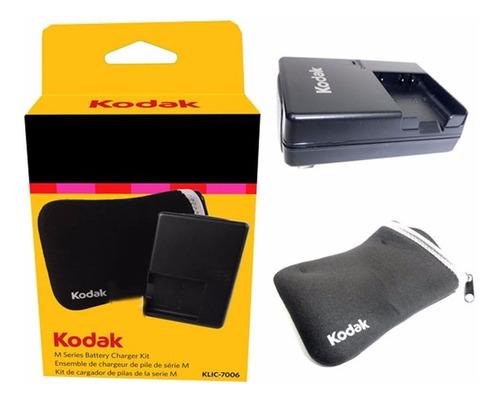 Combo Cargador Kodak Bateria 7006 Estuche Camara Digital
