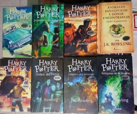 Saga 8 Libros Harry Potter + Animales Fantásticos + Regalo