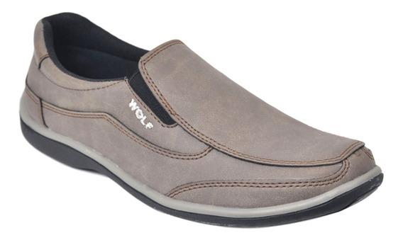 Zapato Náutico Mocasin Hombre Wolf 310 Moderno Confort