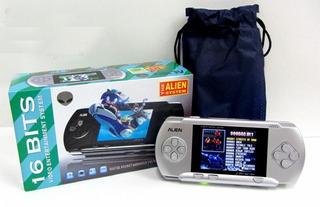 Consola De Juegos Portátil Tipo Sega Alien + Cartucho+ Bater