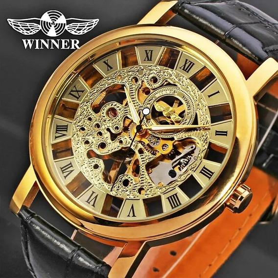 Relógio (grande) Winner, A Corda,masculino, Modelo 103b