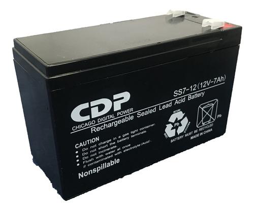 Imagen 1 de 10 de Bateria Ups 12v 7ah 12 V 7 Ah Cdp Nueva Sellada  Ss7-12/7