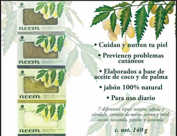 5 Jabones De Neem Artesanal 140 G C/u Cuidado De La Piel