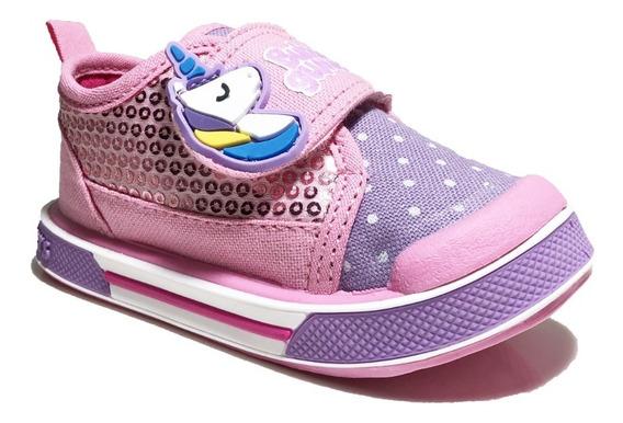 Zapato Tenis Para Niña Unicornio Rosa Jelly Bubble Gummers