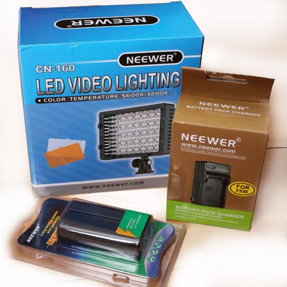 Lampara 160 Led + Batería + Cargador Neewer