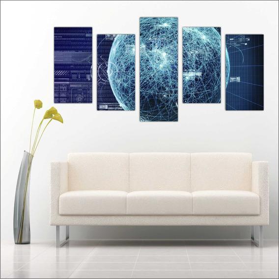 Quadro Decorativo Internet Binários Informática Mosaico