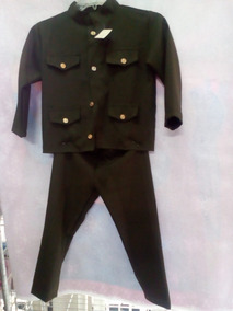 Traje Verde Militat Saco Y Pantalon