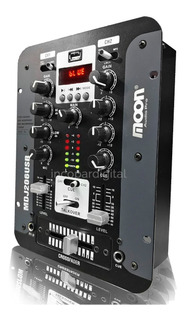 Mixer Consola Dj Stereo Moon Mdj 206 Usb Bluetooth 4 Canales