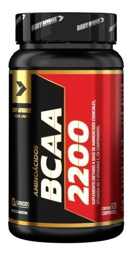 Imagen 1 de 4 de Bcaa 120 Comprimidos. Aminoácidos. Body Advance
