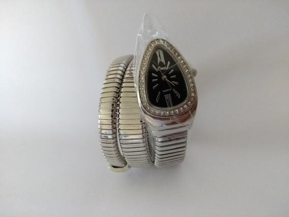 Relógio Pulso Feminino Preto Cobra Cussi Sem Caixa Promoção