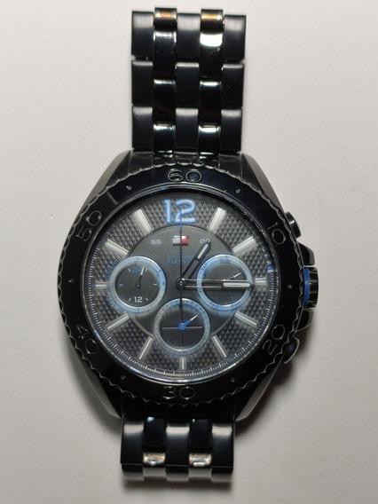 Relógio Tommy Hilfiger Em Aço Inox Preto - Leia Com Atenção