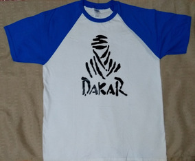 Camiseta Branca Azul Tam G Manga Curta Dakar Promoção Barata