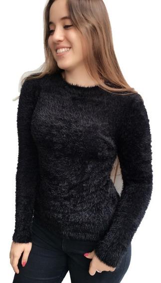 Blusa De Frio C Pelinhos Pelúcia Feminino Outono Inverno