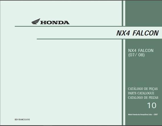 Honda Nx4 Falcon - Catalogo De Peças 2007 E 2008