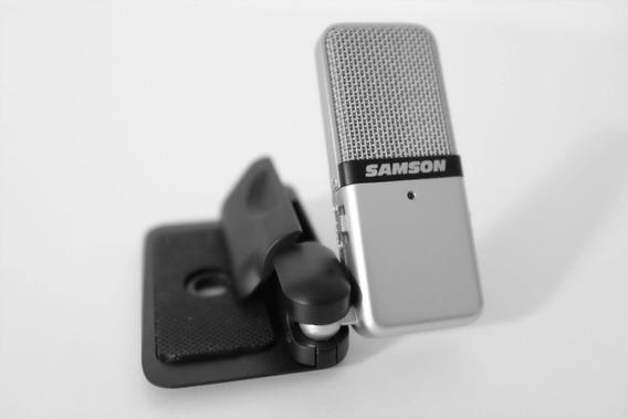 Microfone Condensador Portátil Usb Samson Go Mic C/ Clip