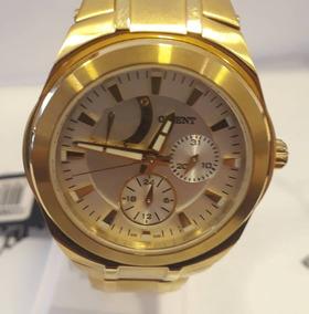 Relógio Orient Dourado Fundo Branco Pérola