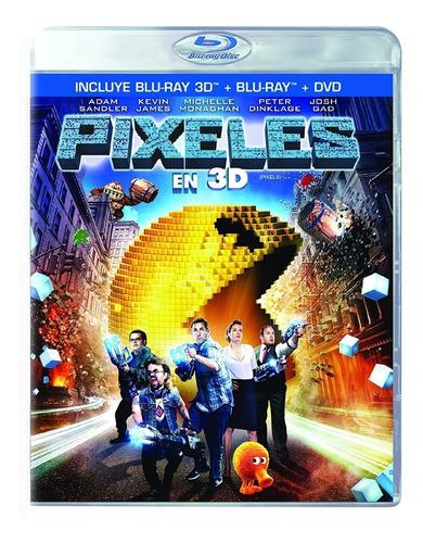 Imagen 1 de 3 de Pixeles (pixels) | Blu-ray 3d + Br + Dvd Español Colección