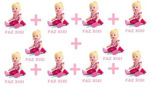 Kit 10 Bonecas Little Alive Baby Faz Xixi - Divertoys